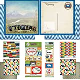 Scrapbook Customs 17449 Themed Paper and Stickers Scrapbook Kit, Wyoming Vintage