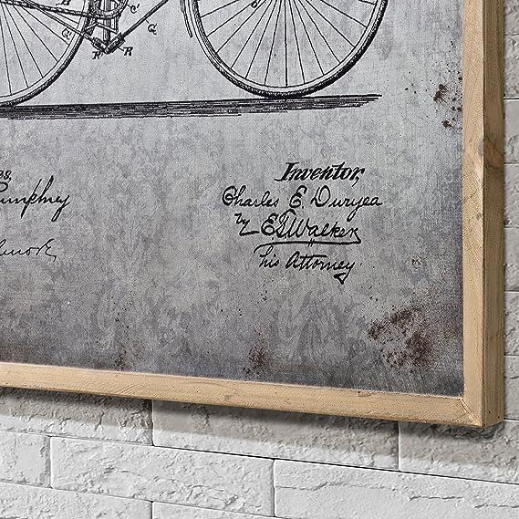 Unbekannt [Art. Work] Pared Imagen sobre Placa de Aluminio Enmarcado 80 x 60 cm Bicicleta: Amazon.es: Hogar