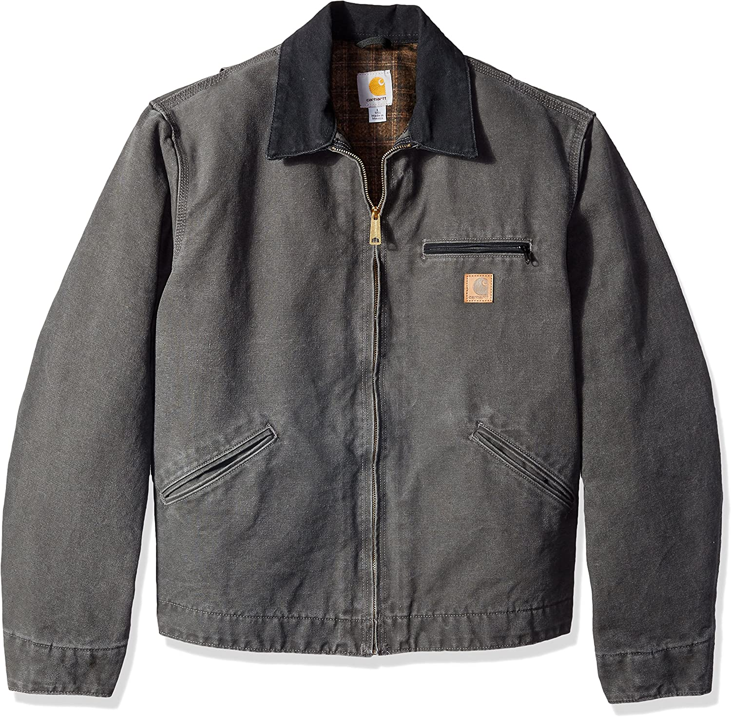 Carhartt Mens Blanket Lined Sandstone Detroit Jacket J97, Gravel ...
