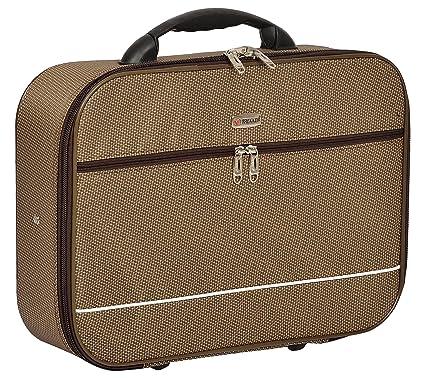 TREKKER Polyester 32.5 cms Brown Softsided Cabin Luggage  CKo N18BR
