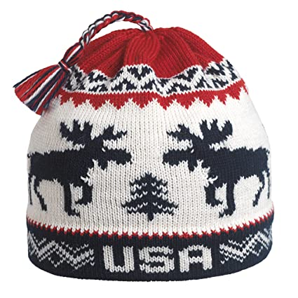 Amazon.com   Vermont Originals USA Moose Ski Hat dd406df7ef20