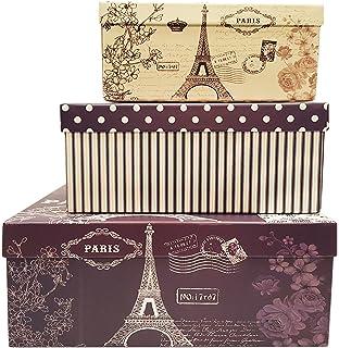 Alef Elegant Decorative Themed Nesting Gift Boxes  3 Boxes  Nesting Boxes  Beautifully Themed And