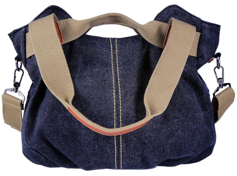 Amazon.com  KELADEY Women s Casual Vintage Canvas Top Handle Shoulder Tote  Shopper Handbag Ladies Daily Purse (Black)  Shoes 21d724a5f6