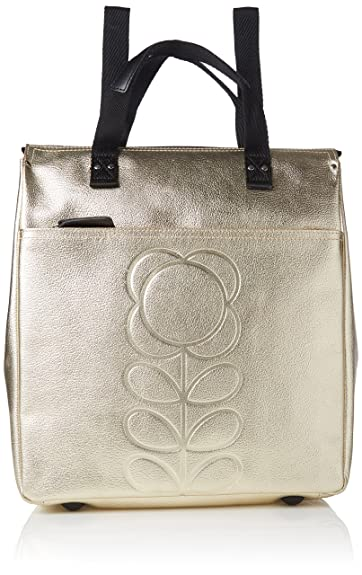 66655a1c30d2 Orla Kiely Embossed Flower Stem Leather Backpack