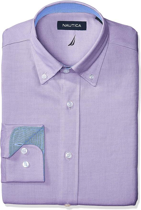 Nautica Camisa de vestir Oxford de ajuste clásico para hombre: Amazon.es: Ropa y accesorios
