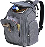 Sleeping Lamb Baby Diaper Bag Backpack with Changing Pad, Grey