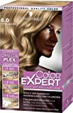 Schwarzkopf Color Expert Intensiv-Pflege Color-Creme, 8.0 Mittelblond Stufe 3, 3er Pack (3 x 167 ml)