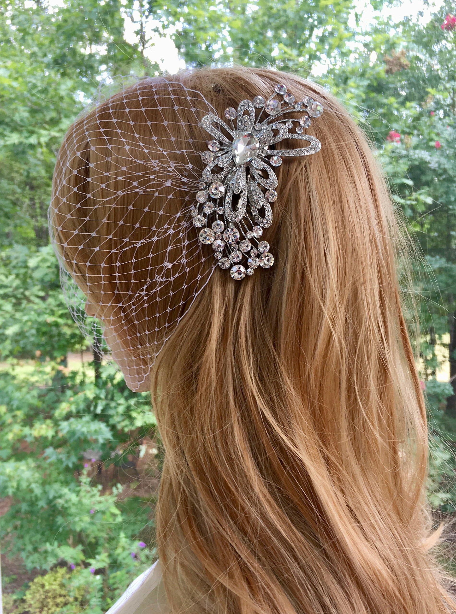 Bridal Bandeau Veil, Wedding Bridal Veil, Birdcage Veil