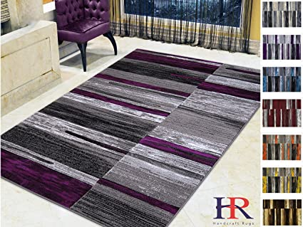 purple and gray rug flower pattern handcraft rugs purplegraysilverblackabstract area rug modern contemporary divers amazoncom