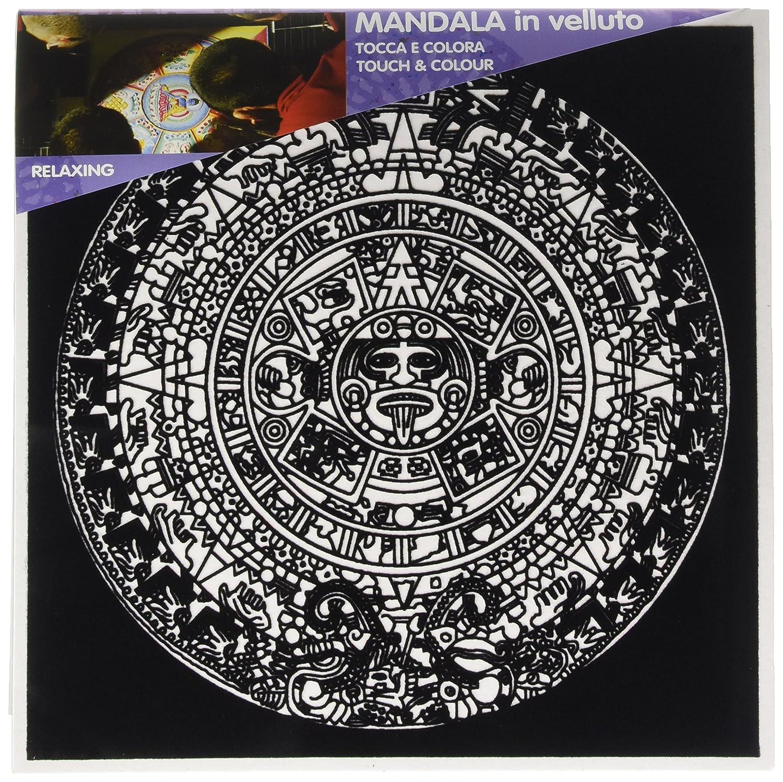 Colorvelvet MA05 - Disegno 32x32 cm Mandala Energia Painting Velvet MANDALA 5