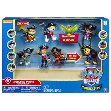 Amazon Com Paw Patrol Pirate Pups Action Pack Exclusive Toys Games