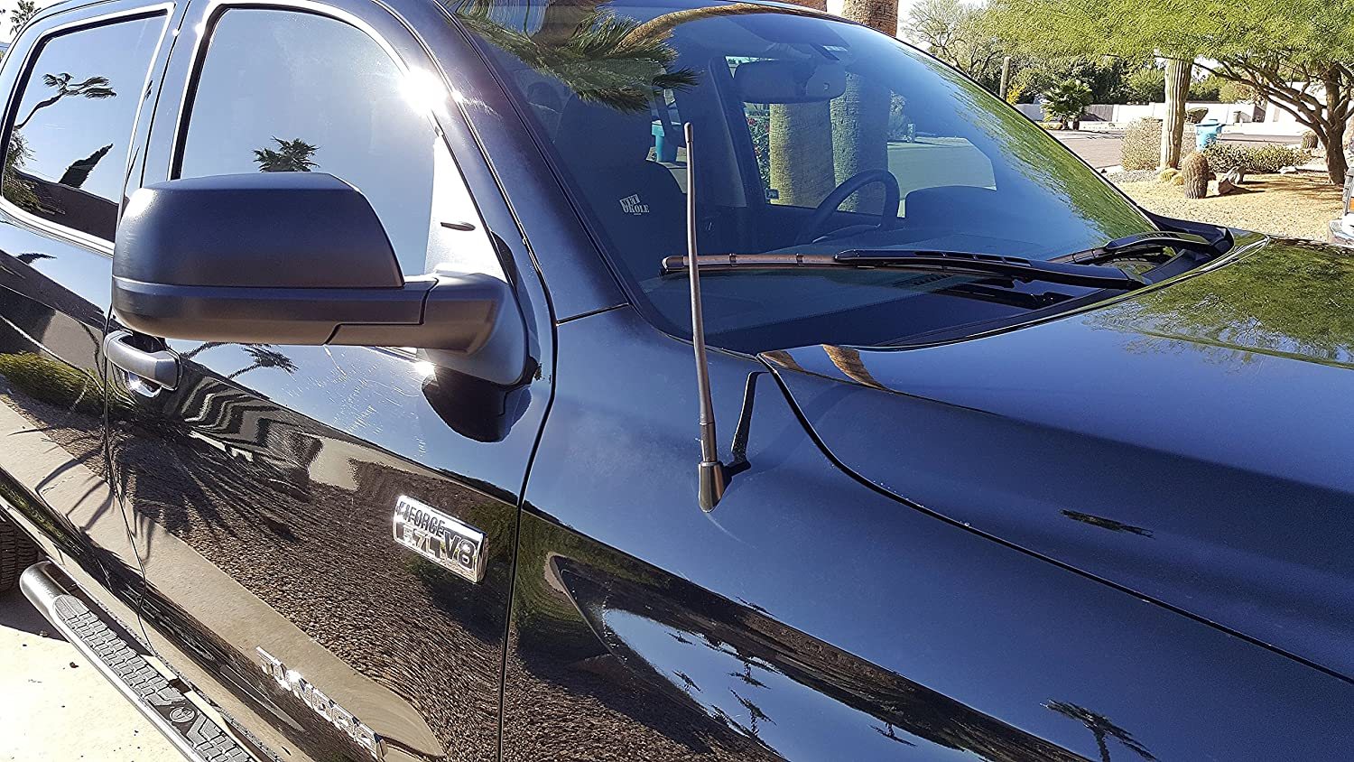 - Short Rubber Antenna AntennaMastsRus Premium Reception German Engineered The Original 6 3//4 Inch is Compatible with Toyota Sequoia Internal Copper Coil 2001-2009