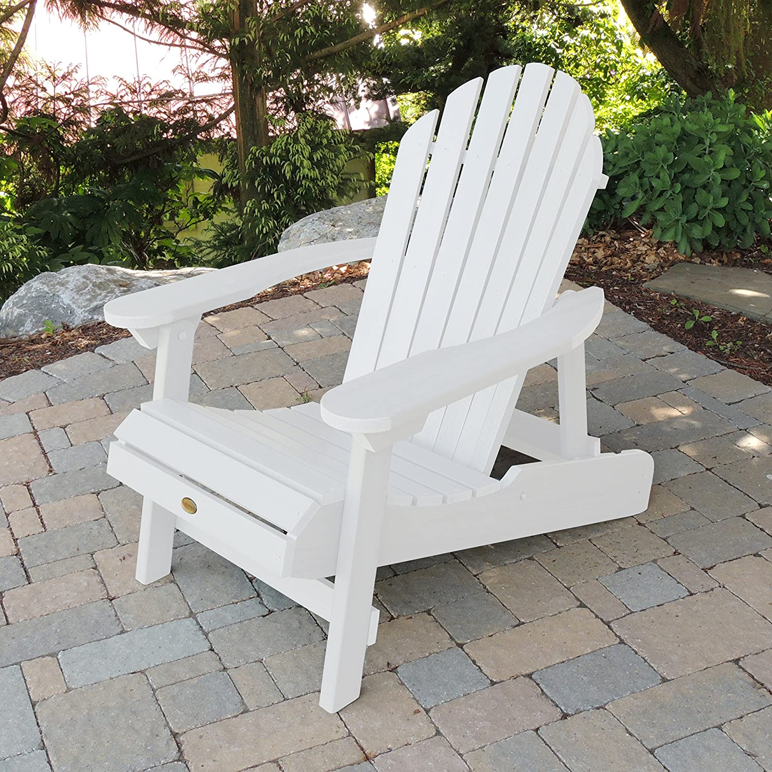 Highwood Folding and Reclining Adult Adirondack Chair White
