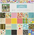 American Crafts Best of Paper Pad, 12 by 12-Inch, Pebbles
