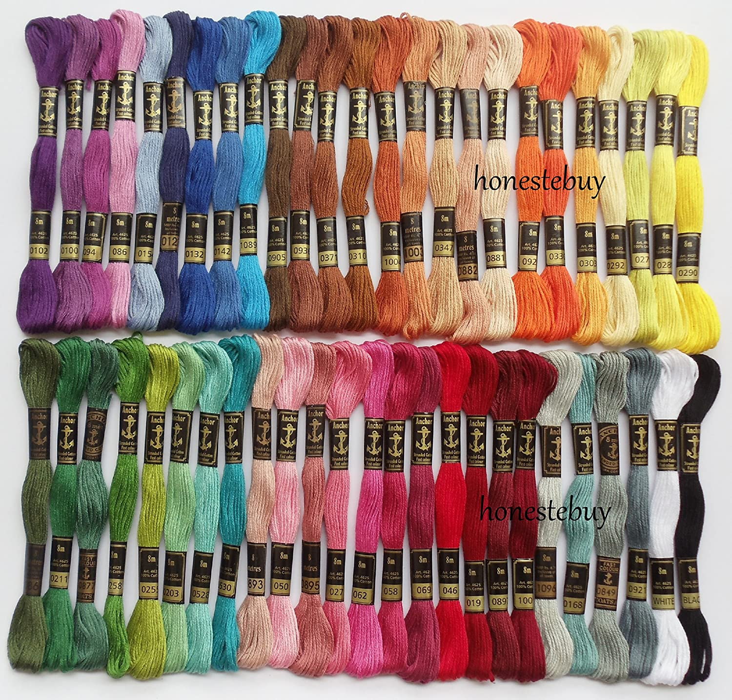 50 anchor skeins assorted embroidery cross stitch threads floss 6 50 anchor skeins assorted embroidery cross stitch threads floss 6 strands cotton amazon electronics geenschuldenfo Choice Image
