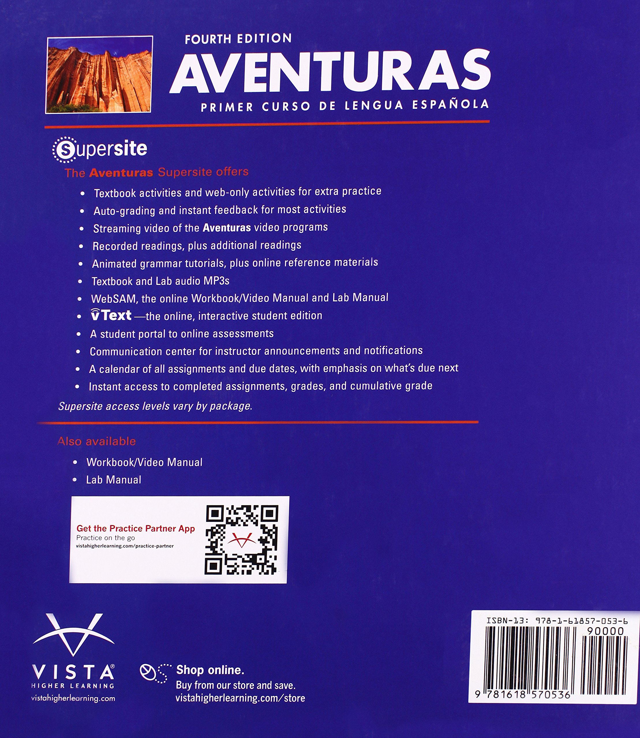 Aventuras text only vista higher learning 9781618570536 amazon aventuras text only vista higher learning 9781618570536 amazon books fandeluxe Choice Image