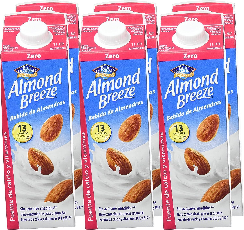 Almond Breeze Bebida de Almendra Zero - Paquete de 6 x 1000 ml - Total: 6000 ml: Amazon.es: Alimentación y bebidas