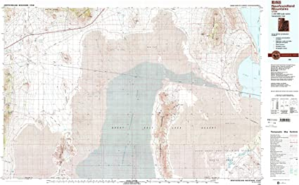 Historical 30 X 60 Minute YellowMaps Newfoundland Mountains UT topo map 24.1 x 39.9 in 1:100000 Scale Updated 1989 1988