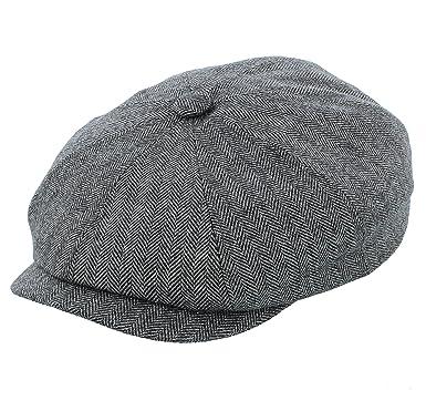 Stetson Hatteras Wool Silk Cashmere Bakerboy Newsboy Cap in Black or ... 49b5cae00ef9