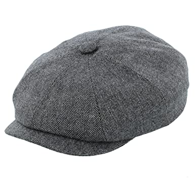 bf2b924680b Stetson Hatteras Wool Silk Cashmere Bakerboy Newsboy Cap in Black or ...