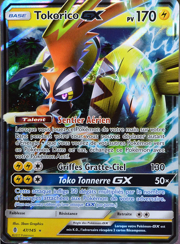 Carte Pokémon 47 145 Tokorico Gx 170 Pv Amazon Fr Jeux Et Jouets