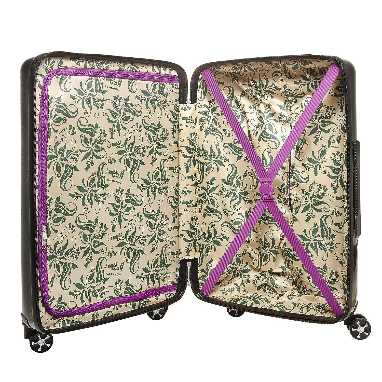 CarryOn Oval Class Kofferset 3 teilig Koffergep/äck TSA Trolleyset holografischer Druck XL
