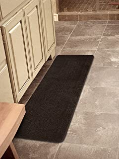 softy collection chocolate brown color solid mat rug plain soft quality bath mats washable rubber back - Washable Rugs