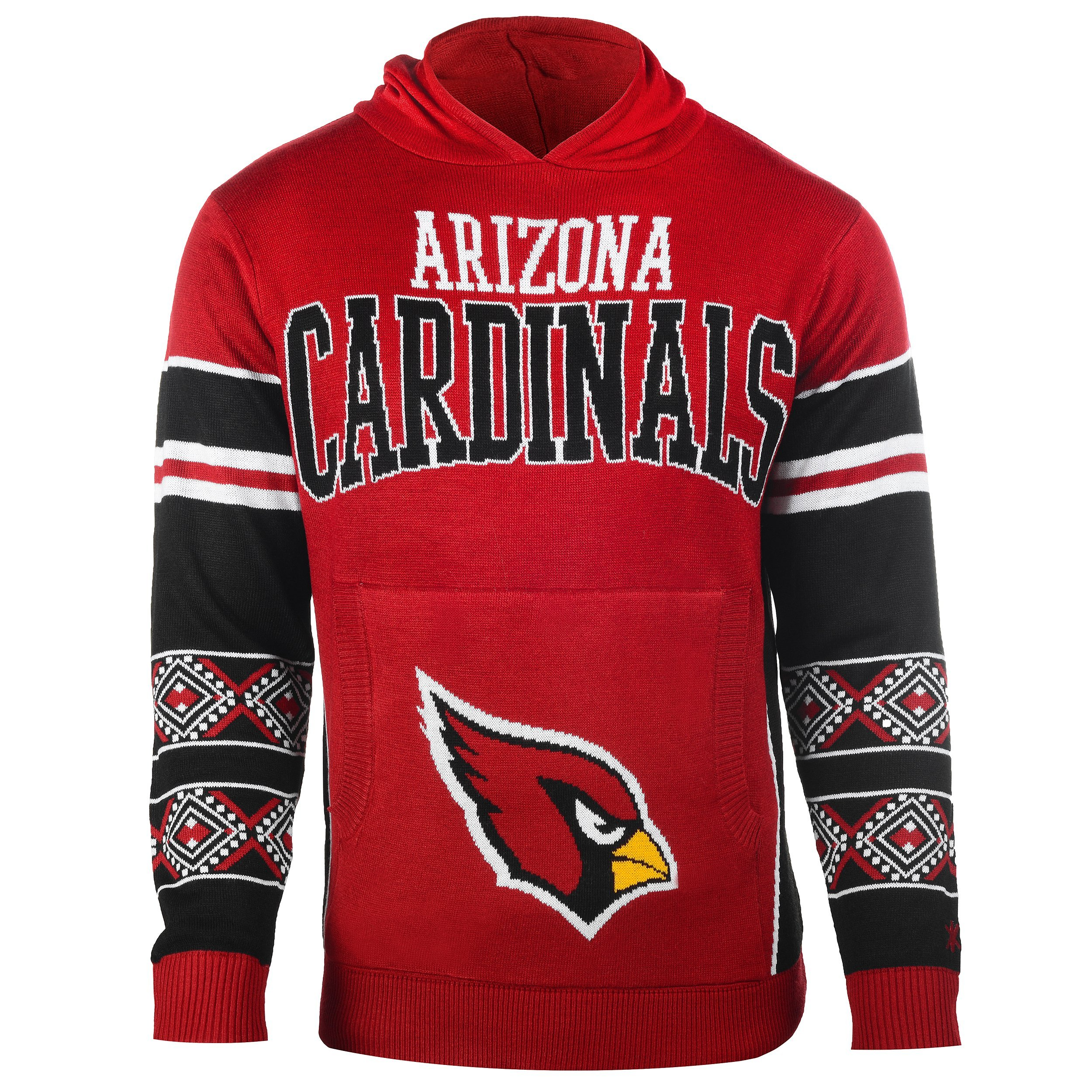 Arizona Cardinals Big Logo Hooded Sweater Medium