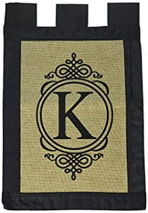 Evergreen Flag 14B2704K Garden Sub Burlap Monogram Flag