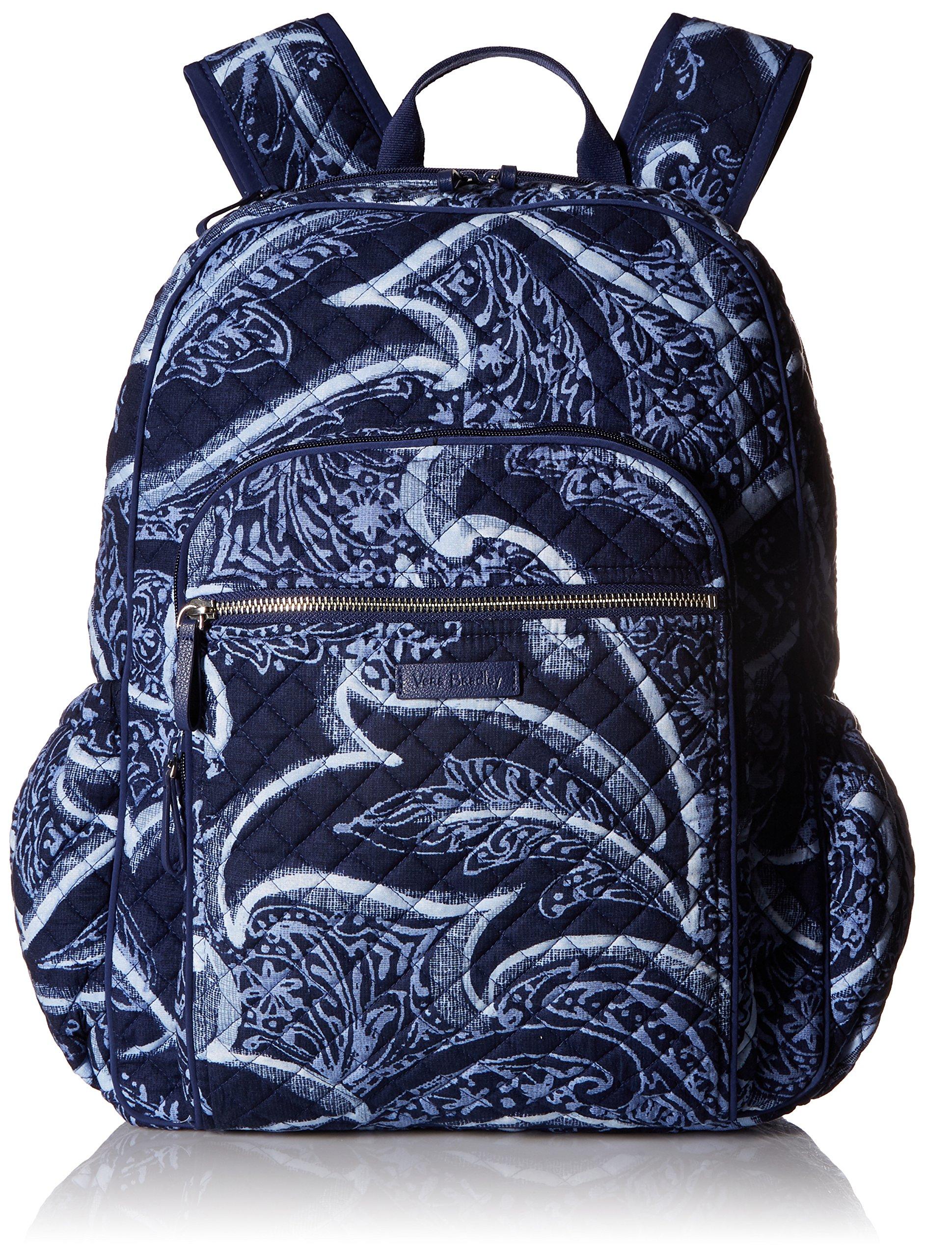Vera Bradley Iconic Campus Backpack, Signature Cotton, Indio