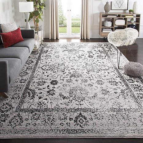 Amazon Com Safavieh Adirondack Collection Adr109b Oriental Distressed Area Rug 5 1 X 7 6 Grey Black Furniture Decor