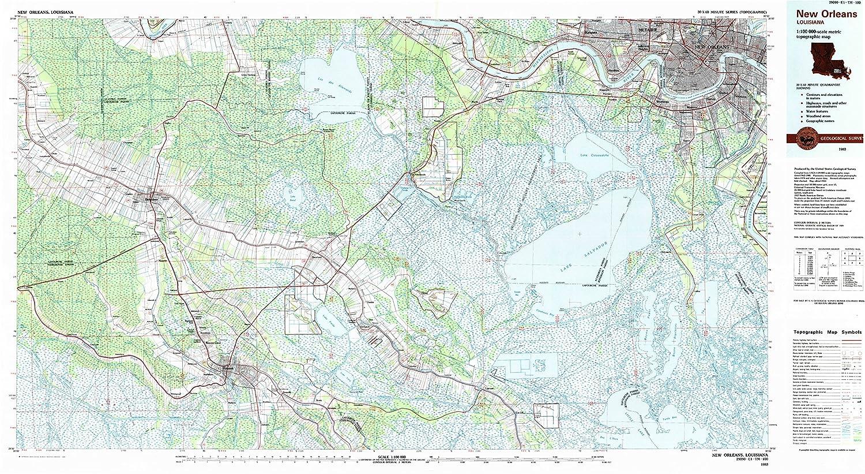 Amazon Com Yellowmaps New Orleans La Topo Map 1 100000 Scale 30