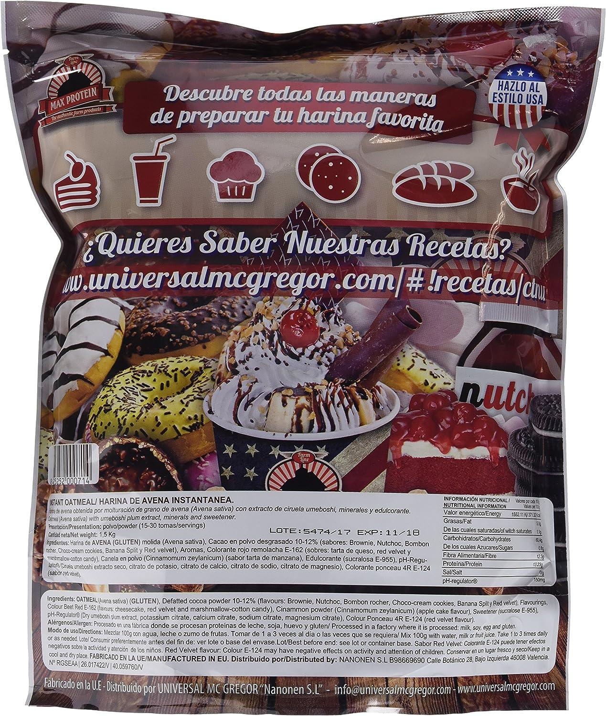 Max Protein Oatmeal Harina de Avena, Termo-Activada - 1500 gr ...