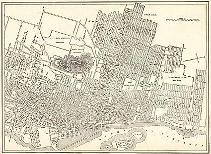 Amazon.com: 1926 Antique Montreal Canada Map Original Vintage Map of ...