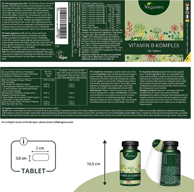 Vitamina B Complex Vegavero® | Sin Aditivos Artificiales | Con ...