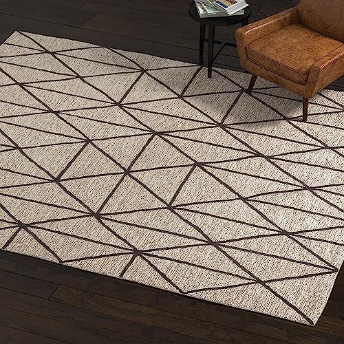 Amazon Brand Rivet Wool Rug, 8 x 10 , Gray, Charcoal