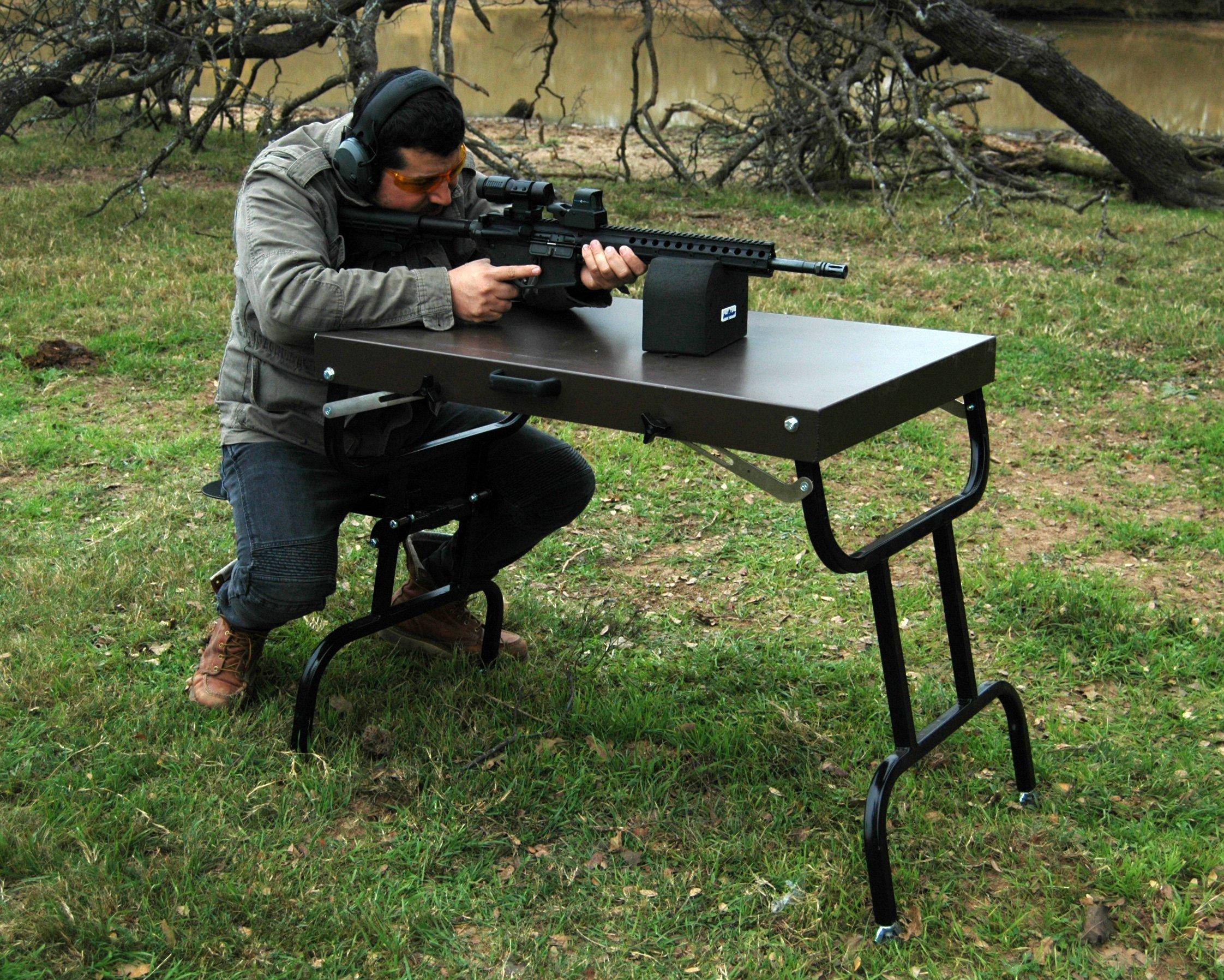 BenchMaster - Weapon Rack - Bench Block - Large - Shooting Rest - Gun Rest - Bench Shooting - Weapon Rack - Bench Block - Large - BMWRBBL - Shooting Rest - Gun Rest - Bench Shooting