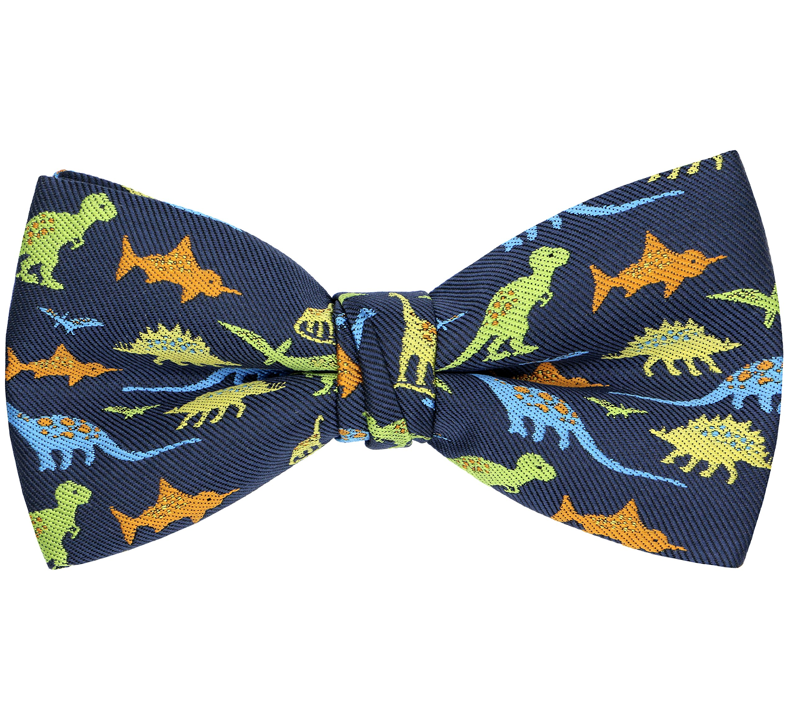 OCIA Pre-Tied Bow Tie Pattern Adjustable Bowties Dinosaur