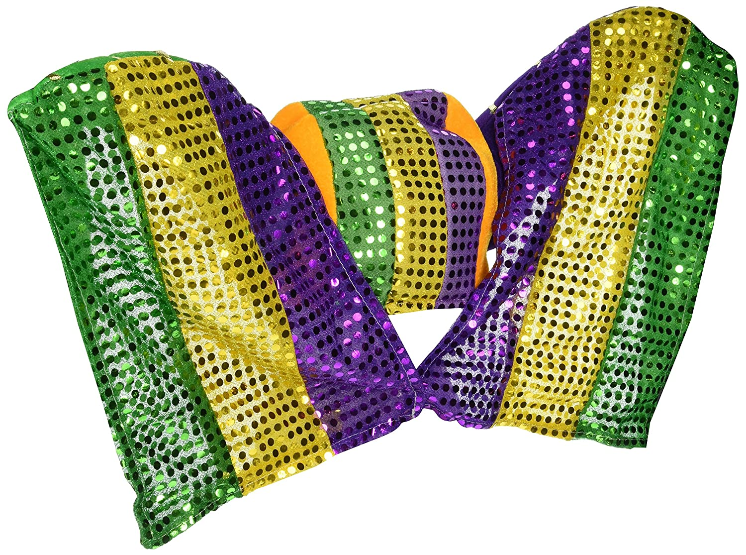 Beistle 60847 Masked Mardi Gras Hat with Sequined Drape