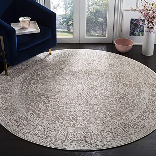 Safavieh Reflection Collection RFT670A Beige and Cream Round Area Rug 6 7 in Diameter