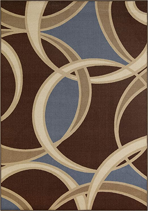 Pelham and Dining Room Made in USA Area Rugs Maples Rugs 7 x 10 Non Slip Padded Large Rug for Living Room Khaki Bedroom