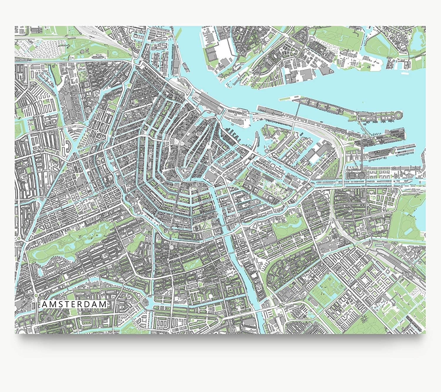 graphic about Printable Map of Amsterdam called : Amsterdam Map Print, Town Artwork Wall Poster