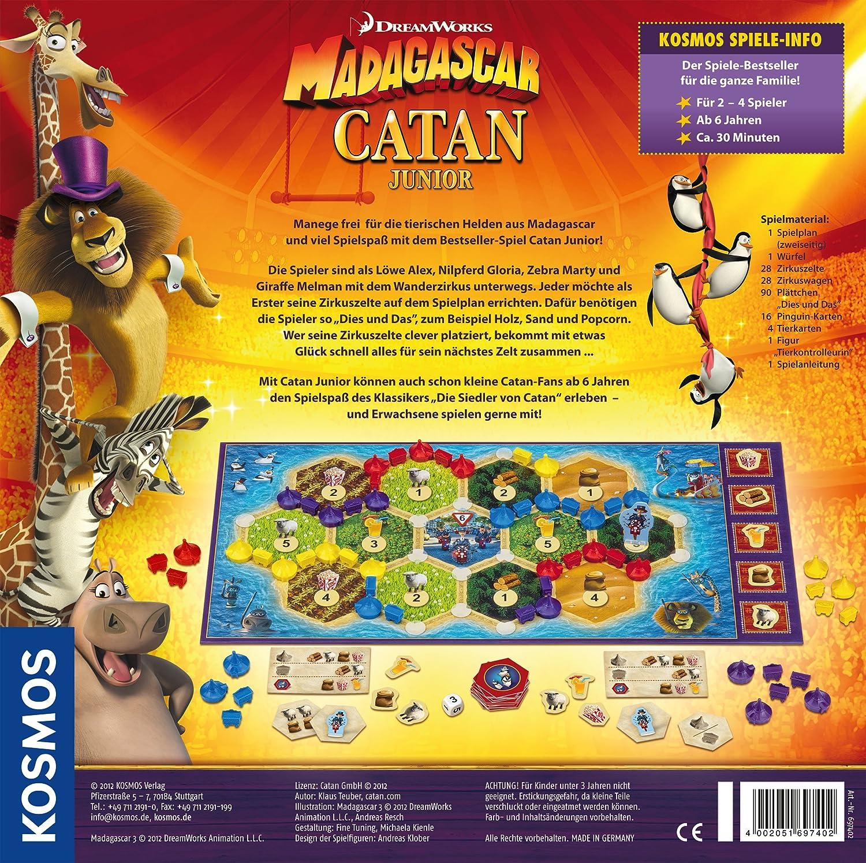 KOSMOS - Juego de Estrategia Madagascar, 2 a 4 Jugadores (versión en alemán): Amazon.es: Juguetes y juegos