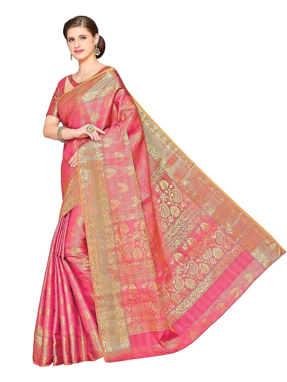 Kanchipuram Silk Saree With Unstitched Blouse Piece