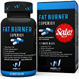 Fat Burner Superior by Weight Loss Development - Thermogenic Belly Fat Loss Supplement Diet Pill, Metabolism Booster - Appetite Suppressant - Garcinia Cambogia - Green Tea – 120 capsules