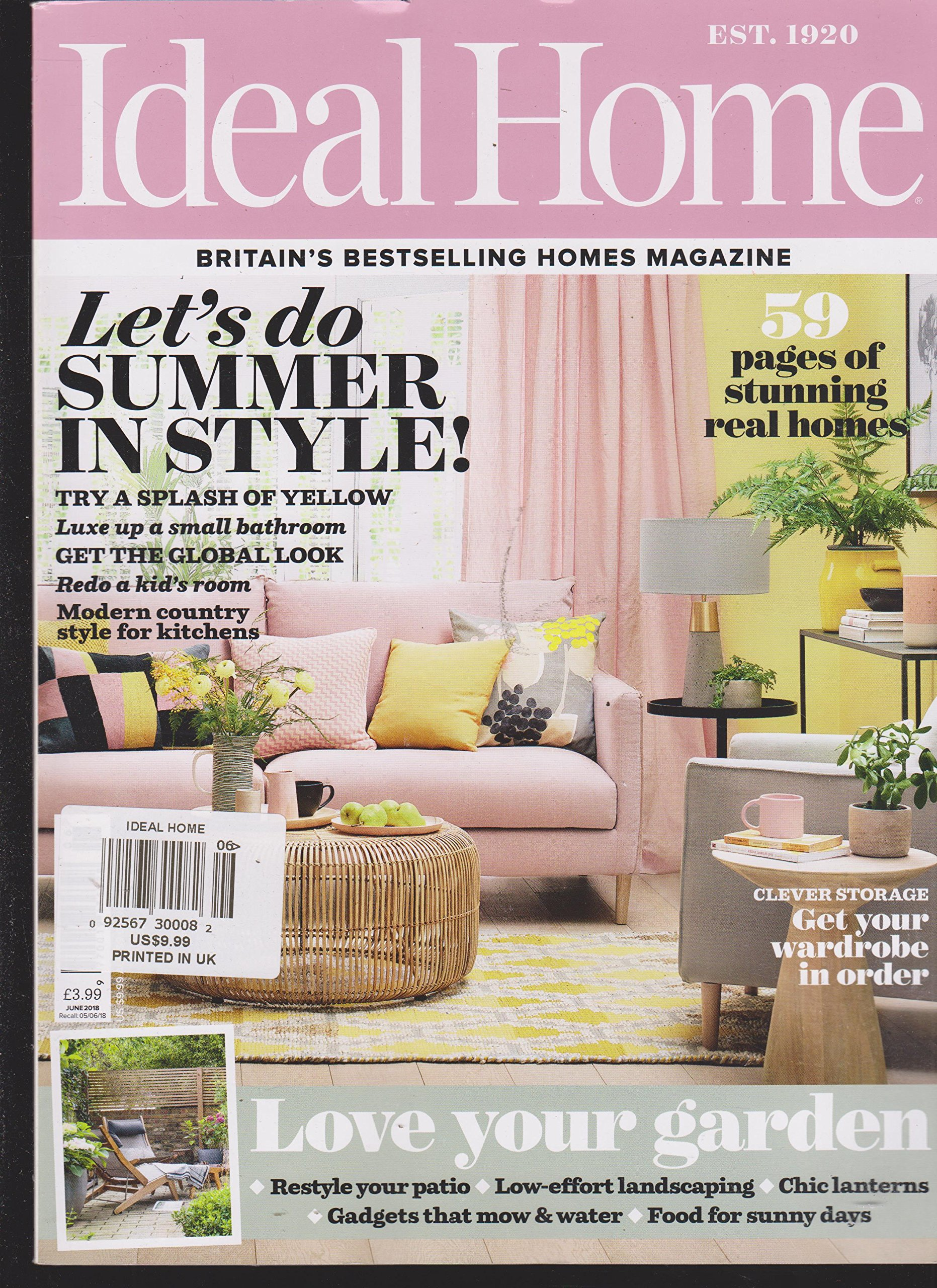 Ideal Home Magazine June 2018 Amazon Com Books