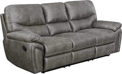 "Mstar Reeves Reclining Sofa, 86.5"" X 38"" X 40"", Grey"
