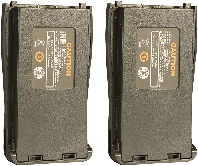 Battery Replacement for Arcshell AR-5 Walkie talkies (2 Pack)
