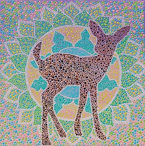 amazon com deer mandala painting 12x12 wall art home decor