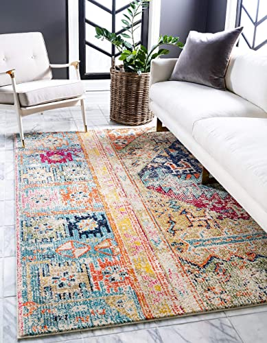 Unique Loom Monterey Collection Bohemian Tribal Vintage Bright Colors Multi Area Rug 9' 0 x 12' 0